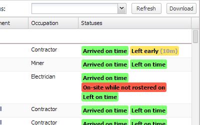 Shift Attendance Logs